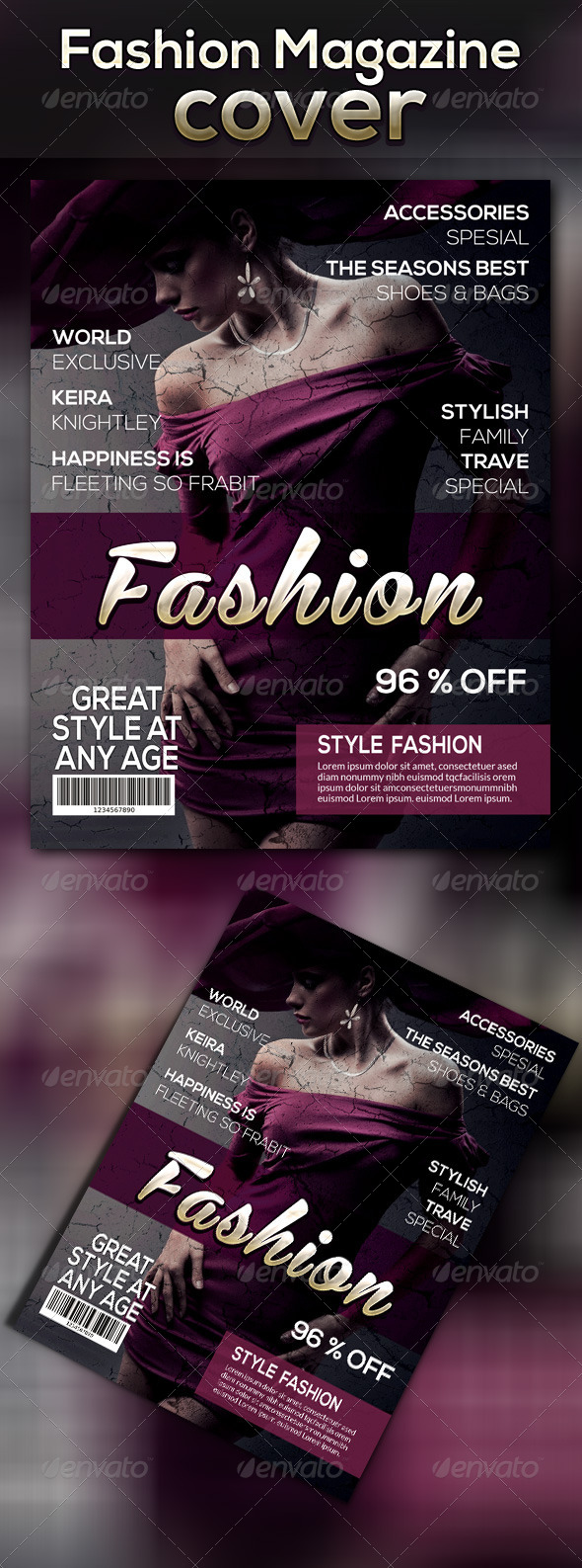 GraphicRiver Fashion Magazine Cover Template 7867882