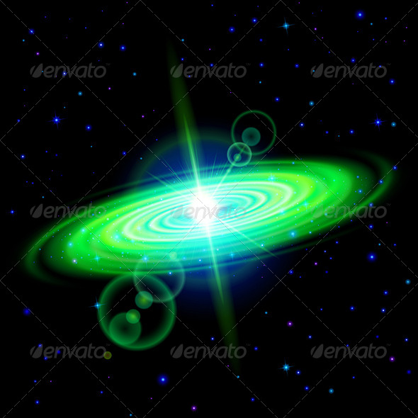 GraphicRiver Green Galaxy 7868474