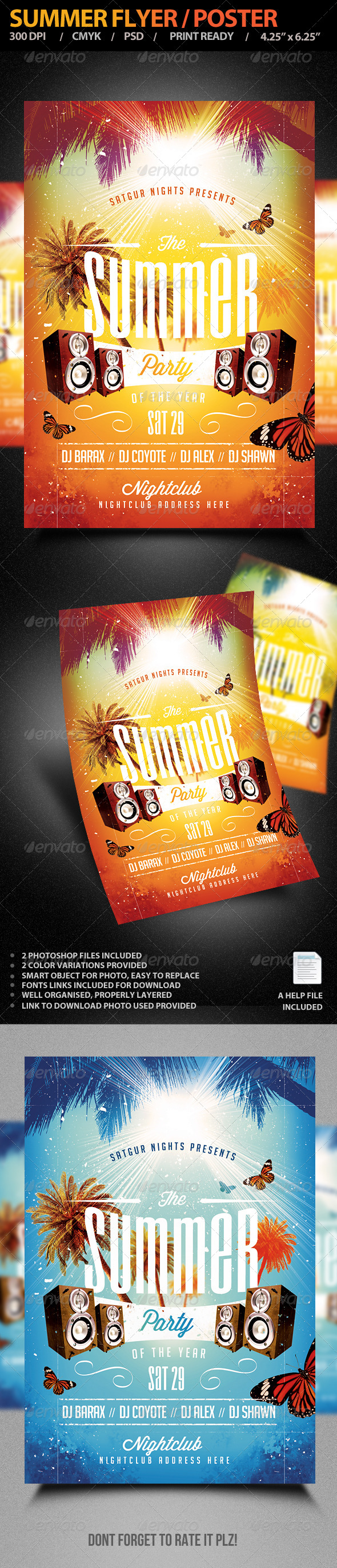 GraphicRiver Summer Flyer Poster 7869663