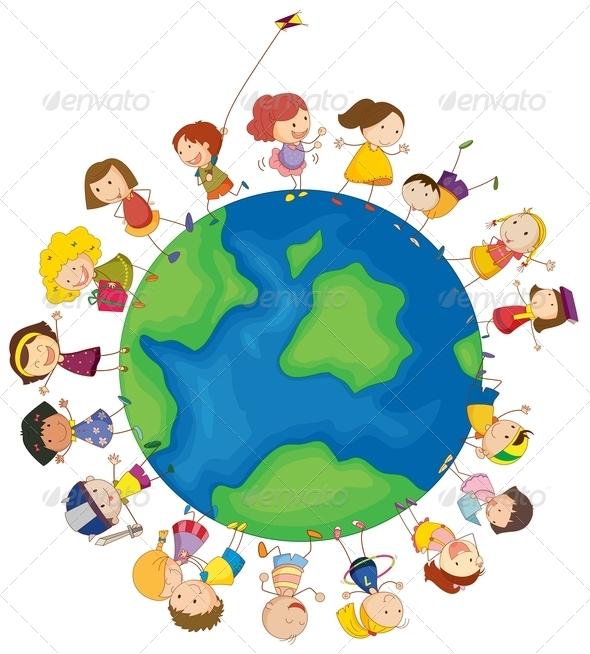 GraphicRiver Kids around the globe 7869700
