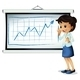 Woman explaining chart - GraphicRiver Item for Sale