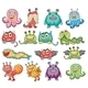 Cute and colorful monsters - GraphicRiver Item for Sale