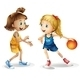 Female basketball players - GraphicRiver Item for Sale