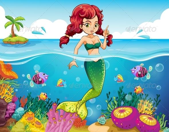 GraphicRiver Mermaid in the Sea 7869838