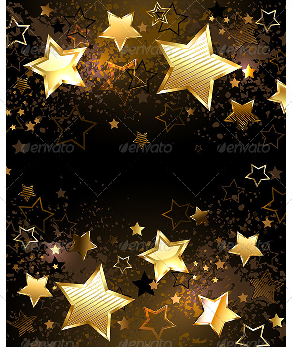 GraphicRiver Background with Golden Stars 7839597