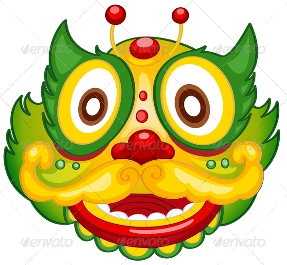 GraphicRiver Colorful dragon mask 7870009