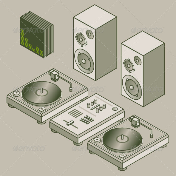 GraphicRiver Isometric DJ 7870180