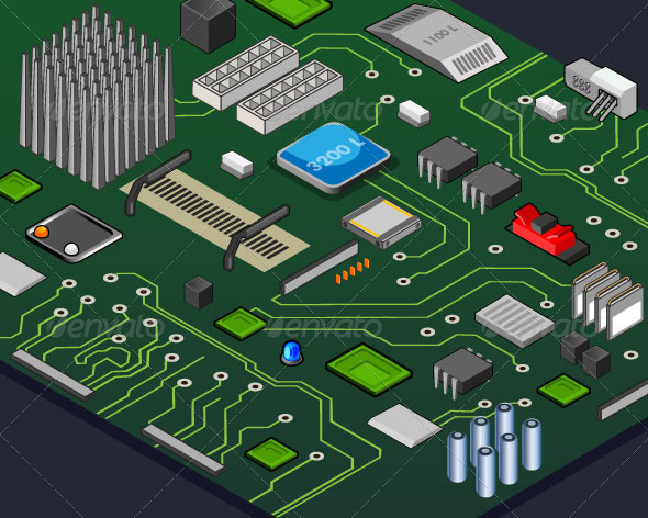 GraphicRiver Isometric Motherboard 7871386