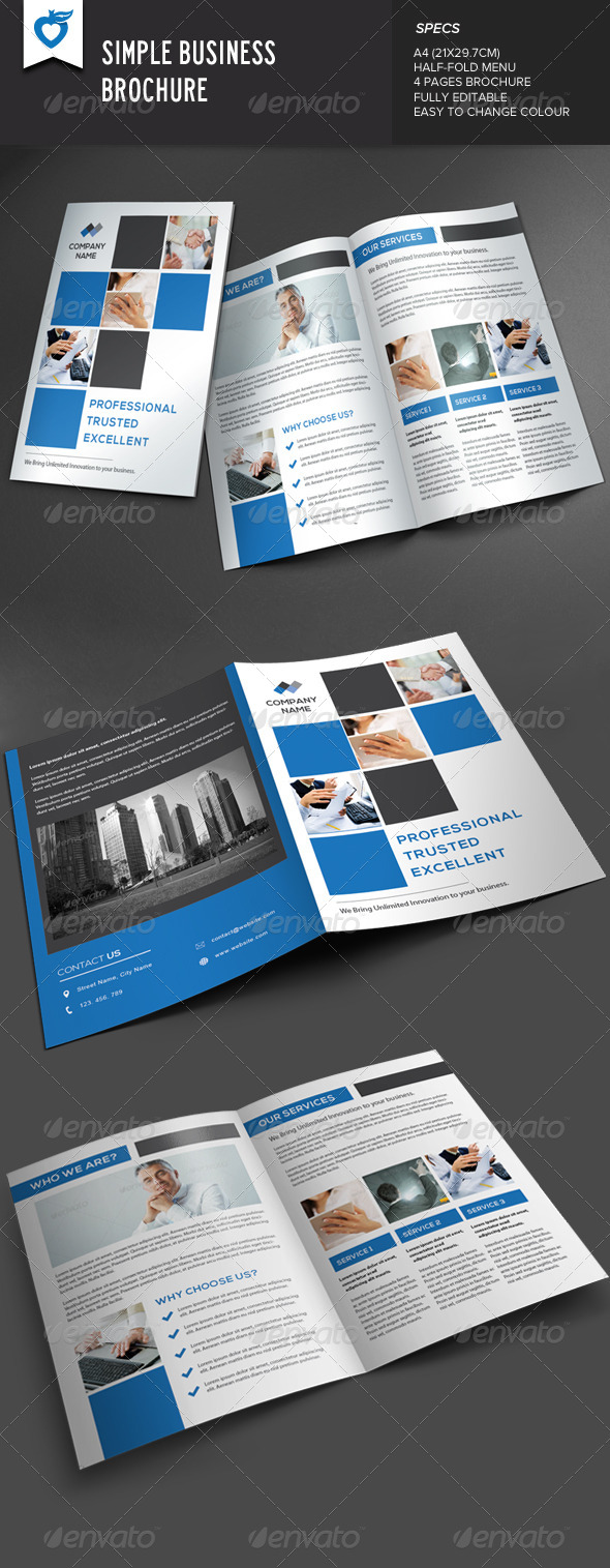 GraphicRiver Simple Business Brochure 7872241
