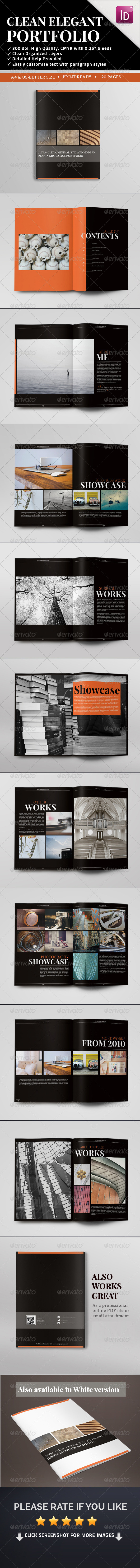 GraphicRiver Clean Elegant Portfolio Template 20 Pages 7872751