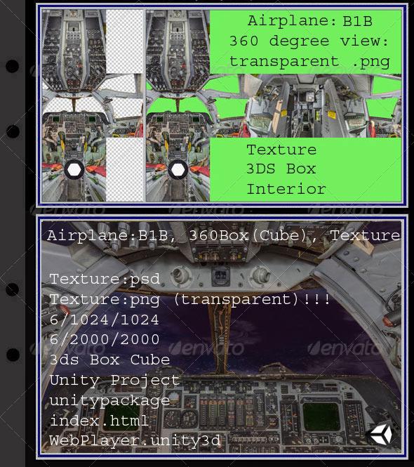 3DOcean Airplane B1B interior 7872994