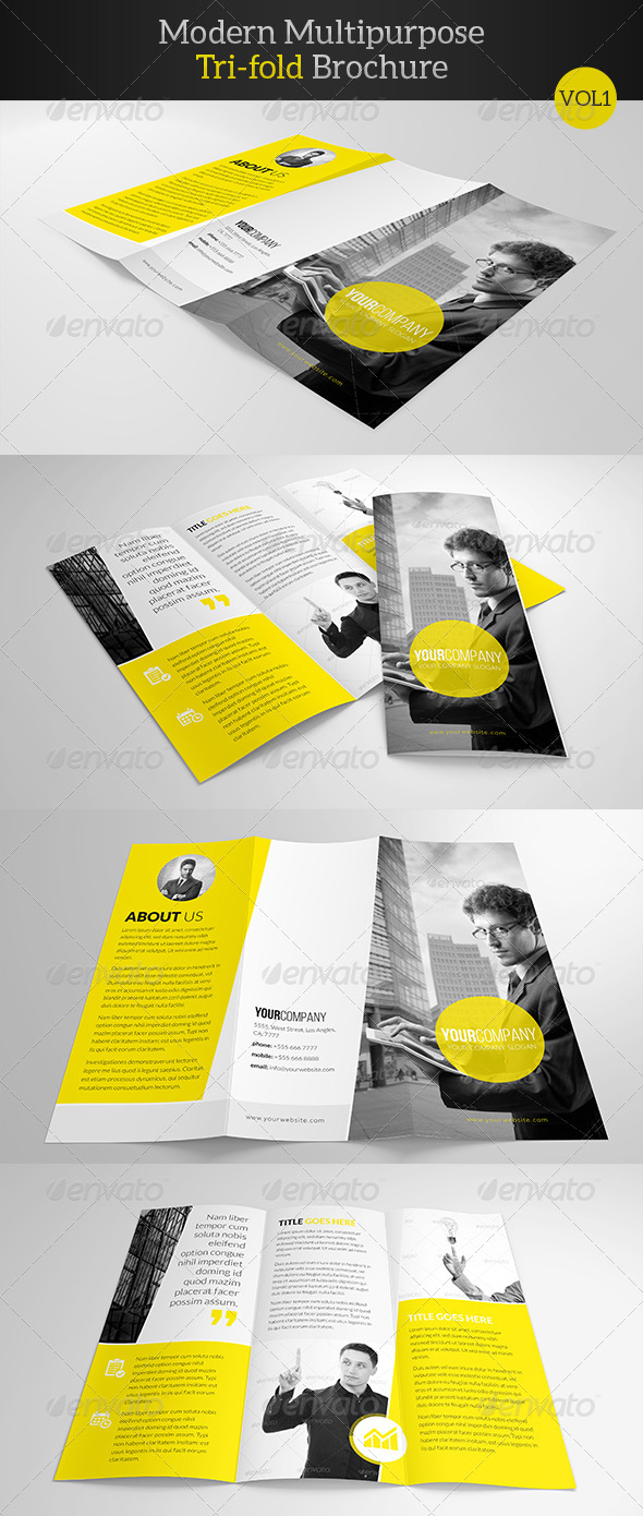 GraphicRiver Modern Multipurpose Trifold Brochure 7874112