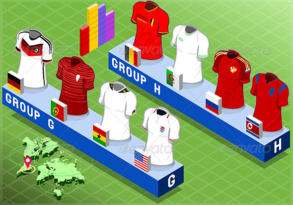 GraphicRiver Isometric Nations Groups for Soccer Cup 7874163