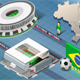 Isometric Stadium of Brasilia and Sao Paulo - GraphicRiver Item for Sale