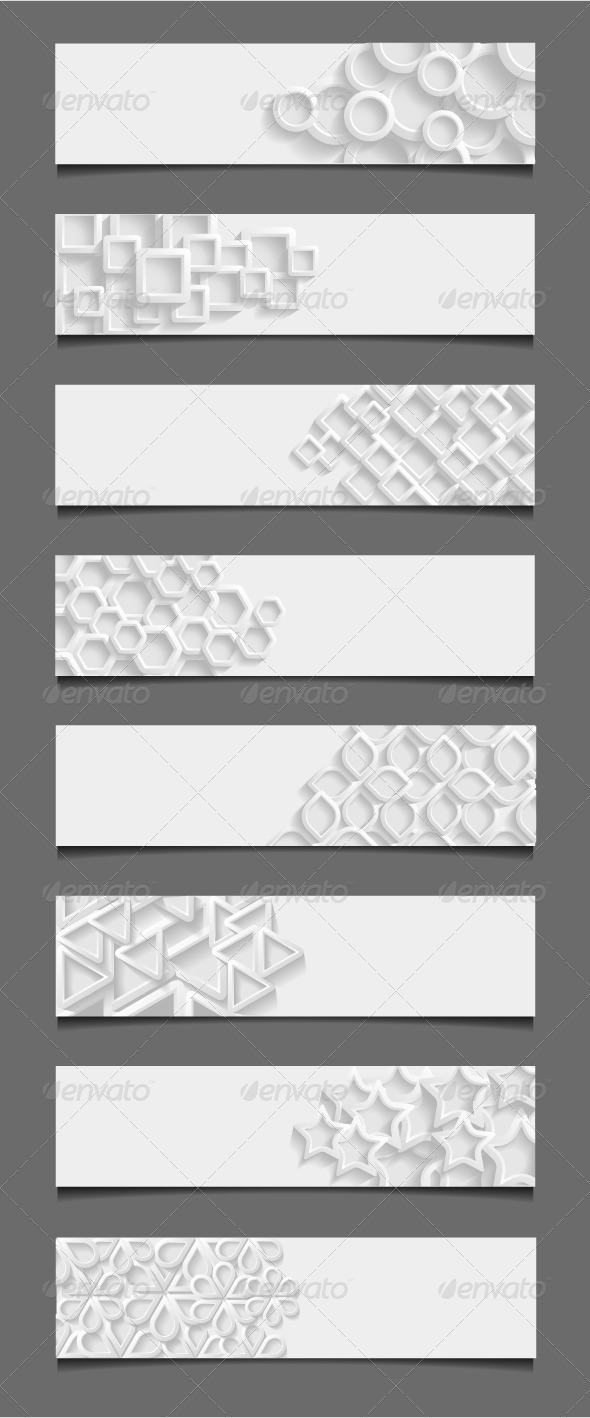 GraphicRiver Set of Abstract Modern Style Banners 7874693