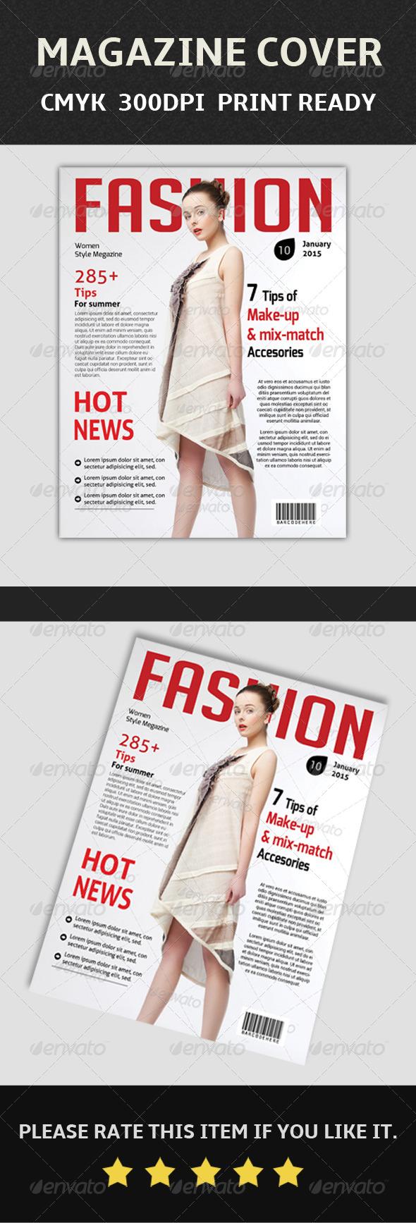 GraphicRiver Magazine Cover Tempate 7874264
