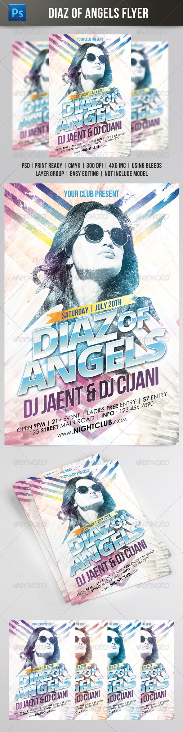 GraphicRiver Diaz Of Angels Flyer 7874933