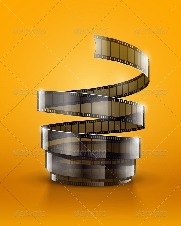 GraphicRiver Spiral of Cinematography Film Tape 7875080