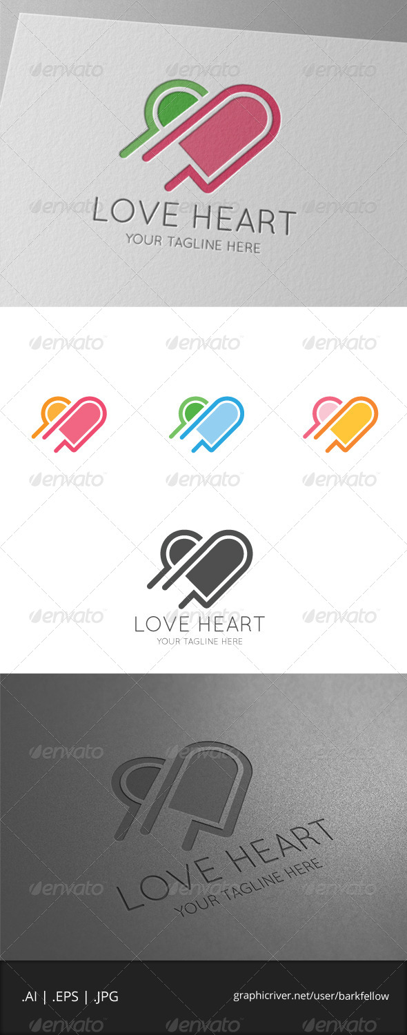 GraphicRiver Love Pink Heart Logo 7875311