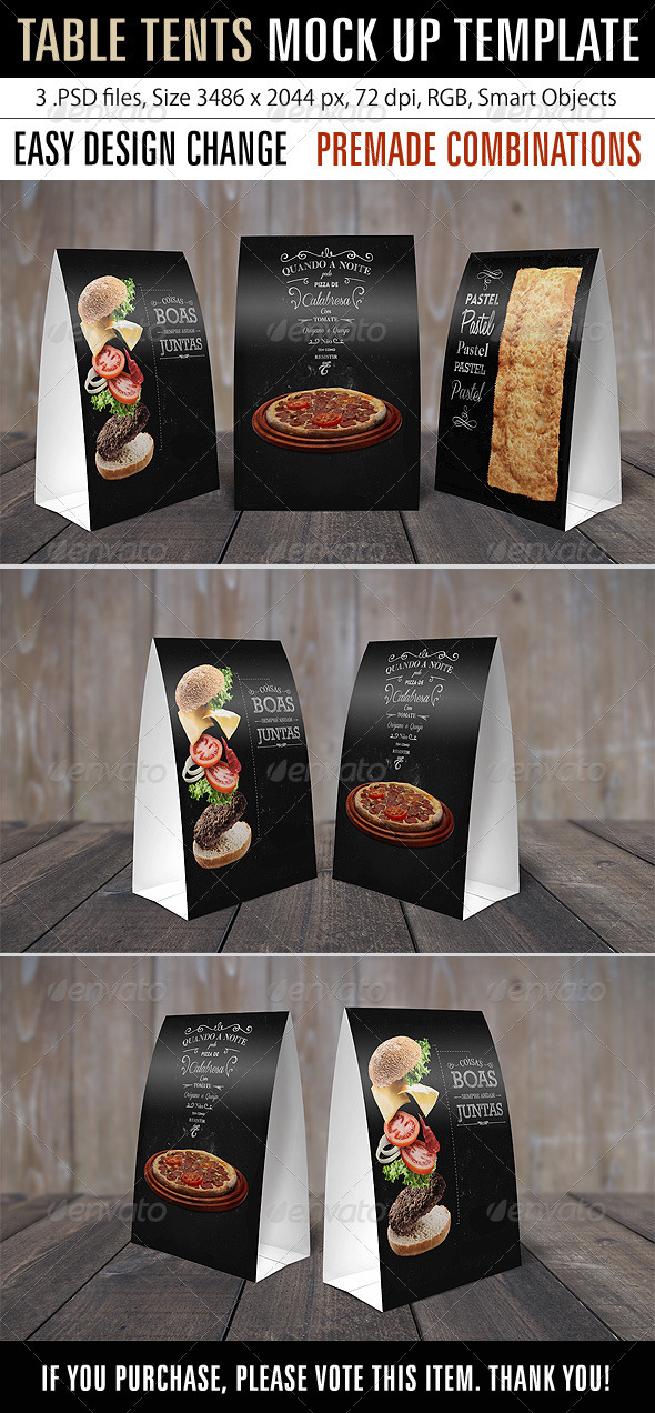GraphicRiver Table Tents Mock Up Template 7875646