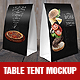 Table Tents Mock Up Template - GraphicRiver Item for Sale