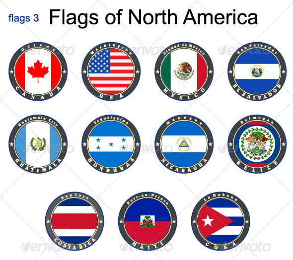 GraphicRiver Flags of North America 7875654