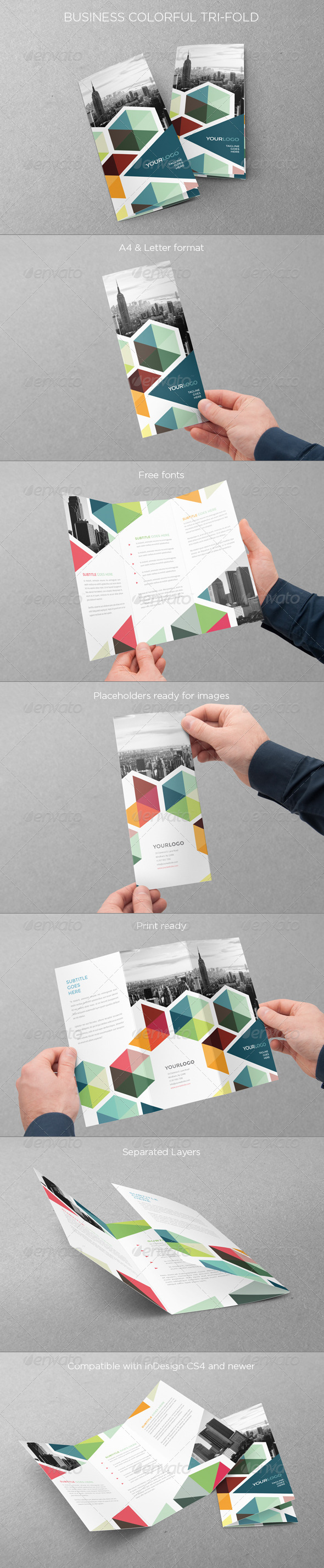 GraphicRiver Business Colorful Trifold 7875655