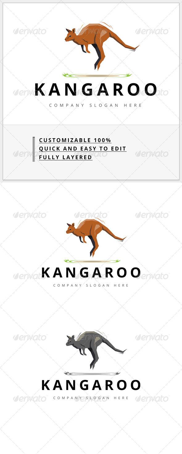 GraphicRiver kangaroo Logo 7875660