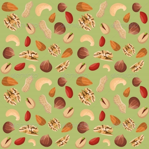 GraphicRiver Nut Mix Seamless Pattern 7875945