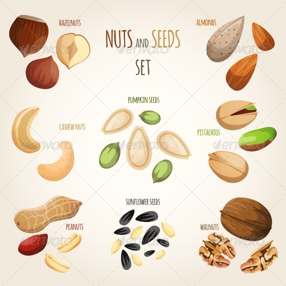 GraphicRiver Nut Mix Set 7875954