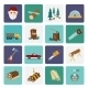 Lumberjack Icon Set Flat - GraphicRiver Item for Sale