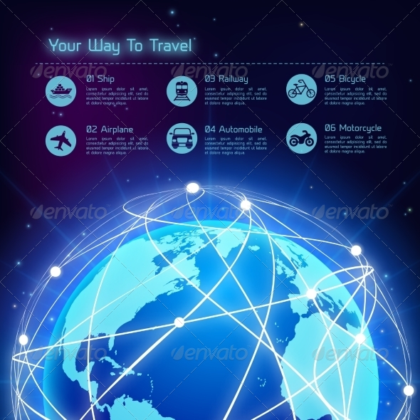 GraphicRiver Network Travel Background 7875982