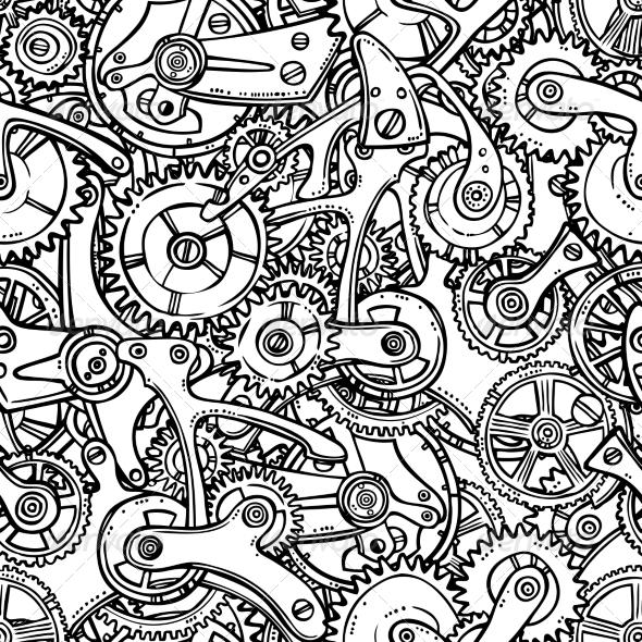 GraphicRiver Gears Lightbulb Sketch 7875992