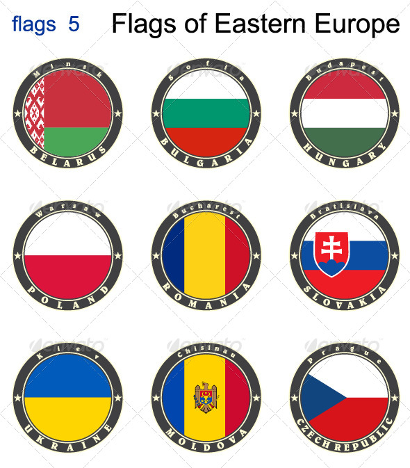 GraphicRiver Flags of Eastern Europe 7875996