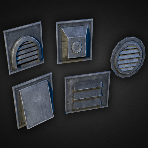 3DOcean Wall Vents Pack 01 7876115