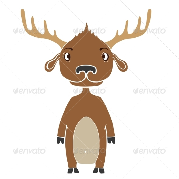 GraphicRiver Funny Cartoon Moose 7876254