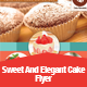 Sweet and Elegant Cake Flyer Template - GraphicRiver Item for Sale