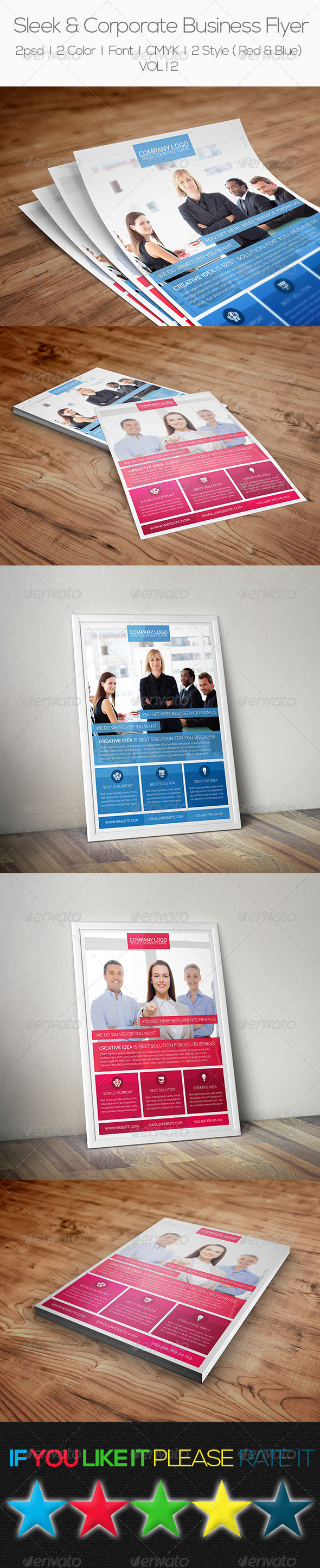 GraphicRiver Sleek & Corporate Business Flyer 7879408