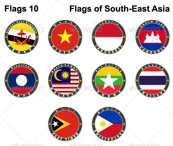 GraphicRiver Flags of South-East Asia 7879602