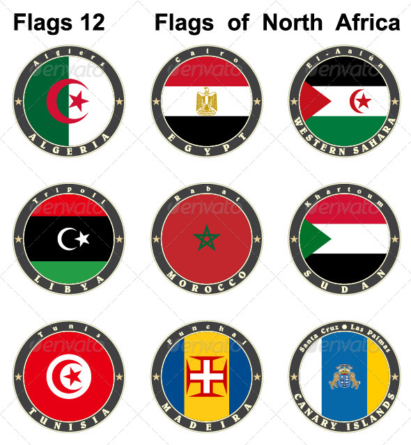 GraphicRiver World Flags North Africa 7879613