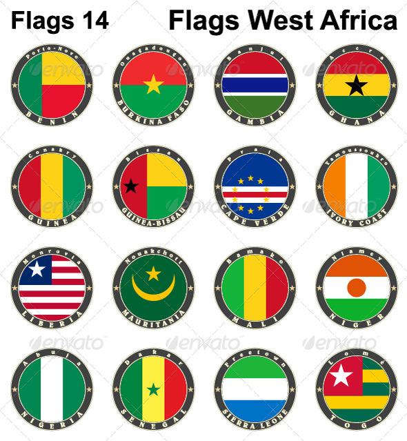 GraphicRiver World Flags Western Africa 7879619