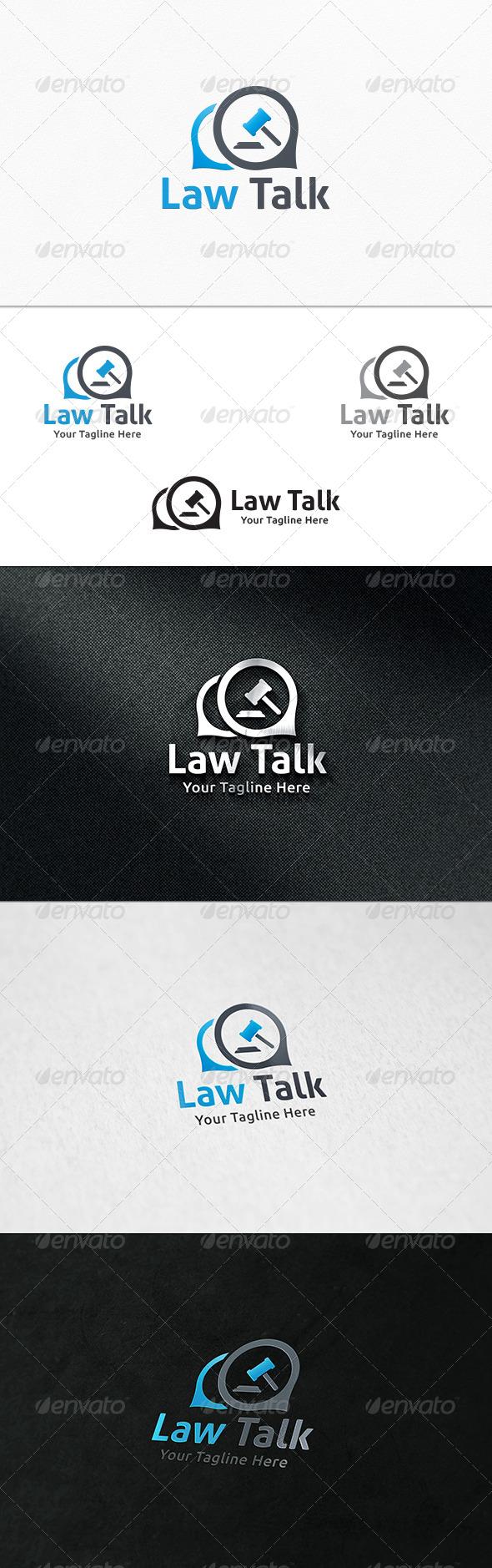 GraphicRiver Law Talk Logo Template 7883073