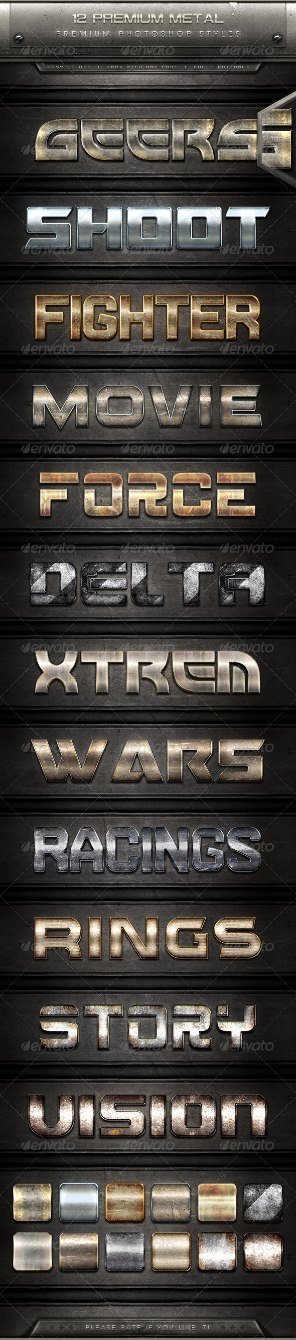 GraphicRiver 12 Premium Metal Text Effect Styles 7883195