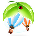 Icon with Hot Air Balloon - PhotoDune Item for Sale