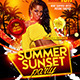 Summer Sunset Party Flyer template - GraphicRiver Item for Sale