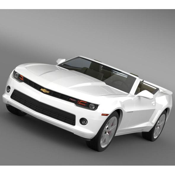 3DOcean Chevrolet Camaro RS Convertible 2014 7884828