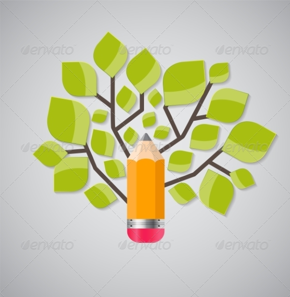 GraphicRiver Tree of Knowledge Concept Illustration 7885065