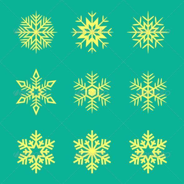 GraphicRiver Snowflakes 7886672