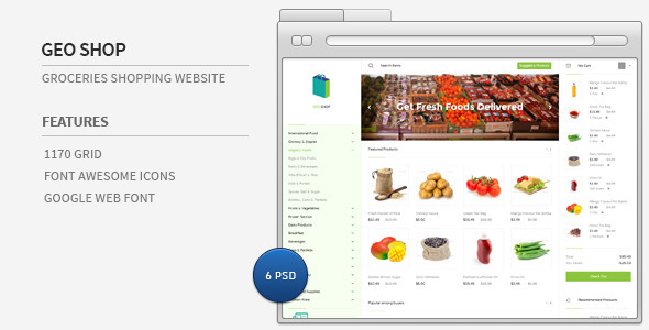 ThemeForest Geo Shop Groceries Shopping Website 7858234