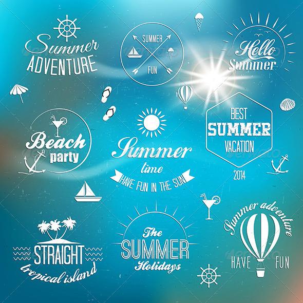 GraphicRiver Summer Holidays Design Elements 7887409